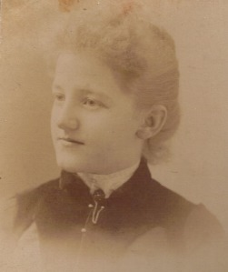 Mary Davies in 1891, aged 19