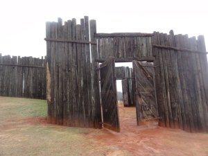Reconstructed entrance to the Andersonville stockade